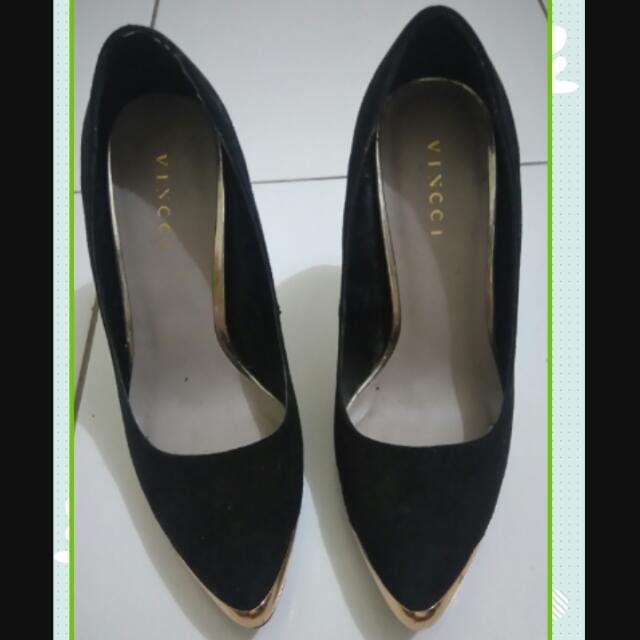 REPRICE !!!!!!  Black Heels Vincci (ori)