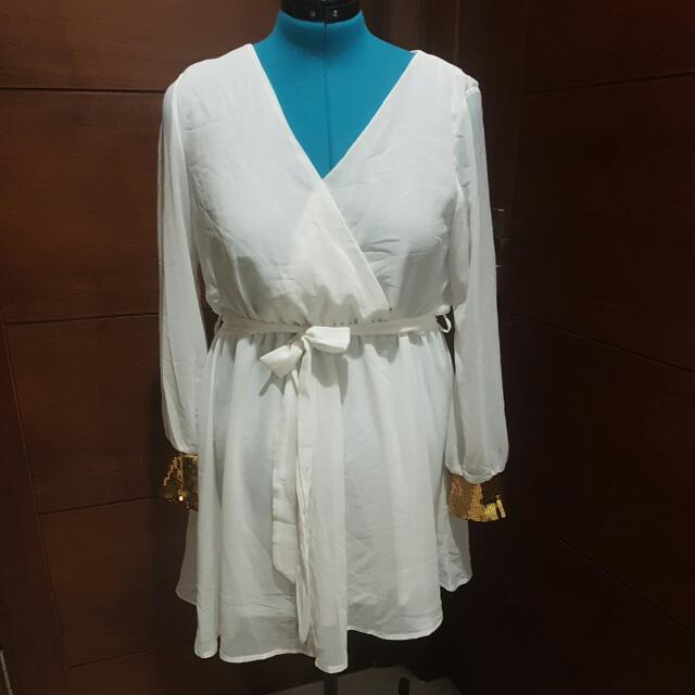 White Shirt-dress Size 14-16
