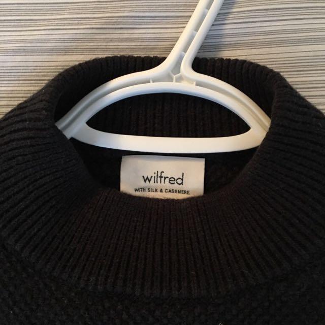 Wilfred Cashmere Silk Crop Sweater 's'