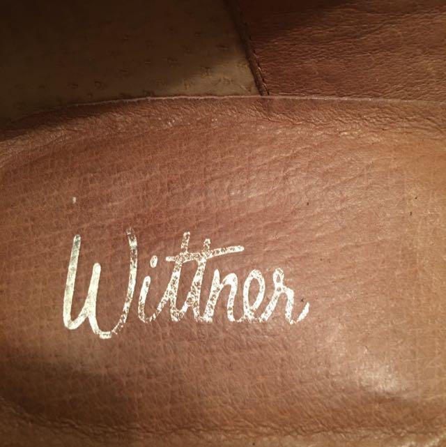 Wittner Black Slip On Loafers - Size 39