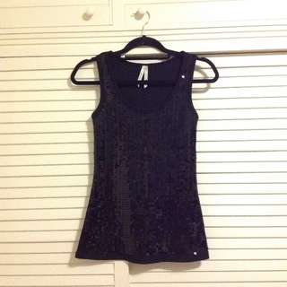 NEW Black sequin tank top