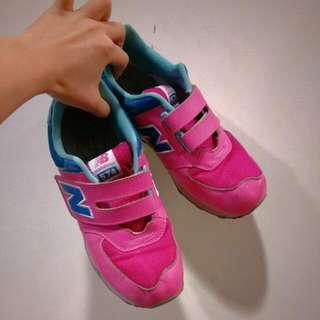 🚚 New Balance 574粉紅 魔鬼氈 大童鞋(24.5cm)