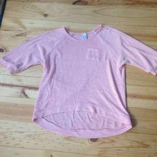 Peach 3/4 Sleeves Shirt