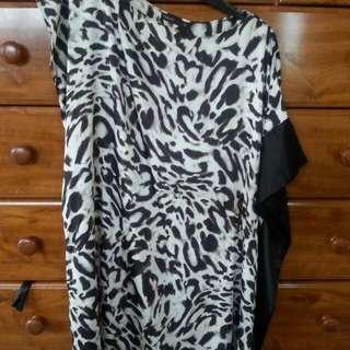 Leopard Print Unique Dress