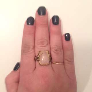 Pink Stone Antique Style Ring