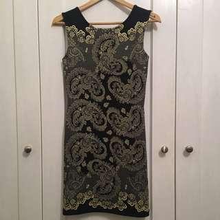 Sportsgirl Neopreen Print Dress - Size 10