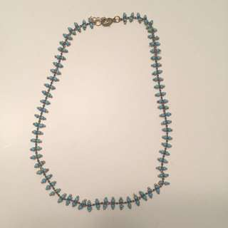 Brandy Melville Blue Bead Adjustable Choker Necklace