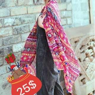 Large Boho Trendy Summer scarves