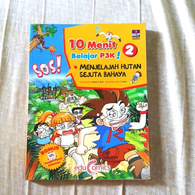 """Buku Pengetahuan 10 Menit Belajar P3K!  """"Menjelajah Hutan Sejuta Bahaya"""""""