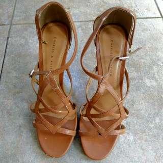 Charles & Keith Brown Stiletto Heels