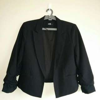 Black Cropped Jacket Size 8
