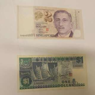 Low Singapore Currency Identical 900001