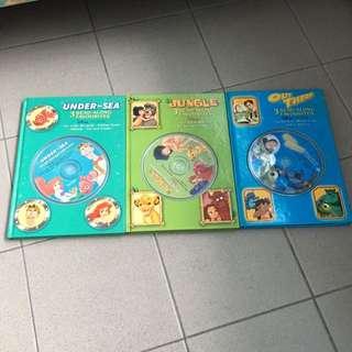 "Disney ""3 Read Along"" Story books"