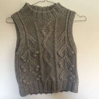 Paper Hearts Knitted Crop Top