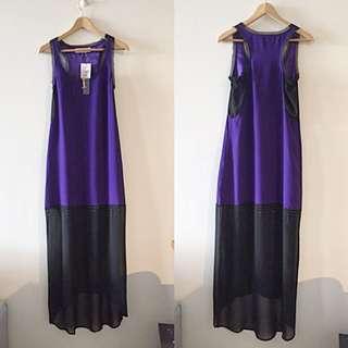 Fashion Purple Maxi Dress
