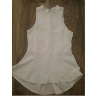 Cream Peplum Style Shirt