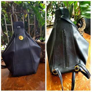 Imported Vintage 80s Lucci Pitt Leather Back Pack