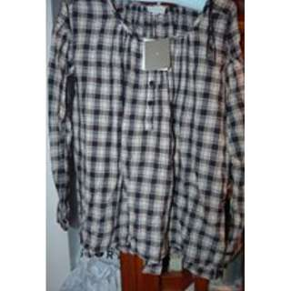 Witchery XS/S cotton chequered tunic BNWT