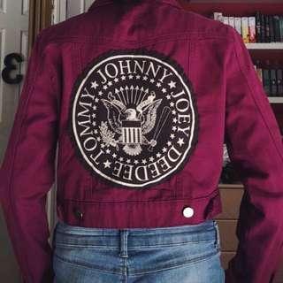 Ramones Handmade Fuchsia Denim Jacket