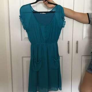 Teal Flow Dress