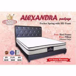 Kingsbed Alexandra Promo Package (Mattress + Bedframe + Pillows) ON SALE