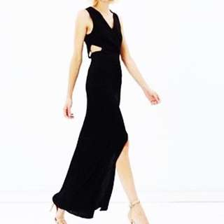 Sass & Bide Black Evening Dress Size XS