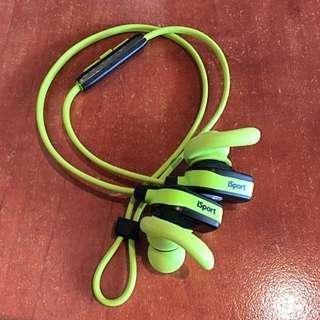 Monster iSport 螢光綠 耳機