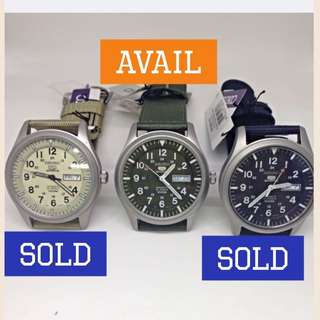 Special deal! Seiko 5 Military Automatic watch