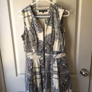 Cue Size 10 Paisley Aline Dress