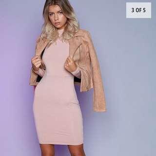 Beginning Boutique Blush Long Sleeve Dress