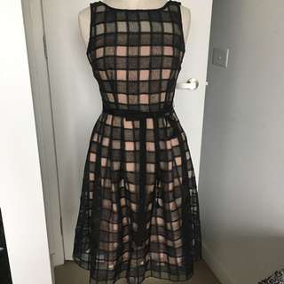 Organza Lace Checked Dress