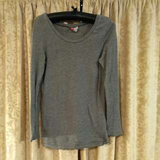 H&M Grey long sleeve shirt