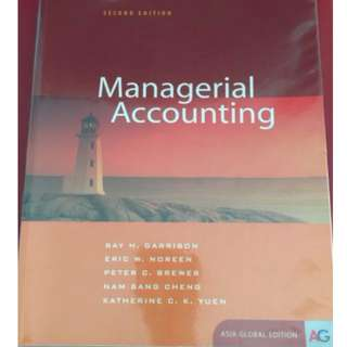 MA: Managerial Accounting ACCT102