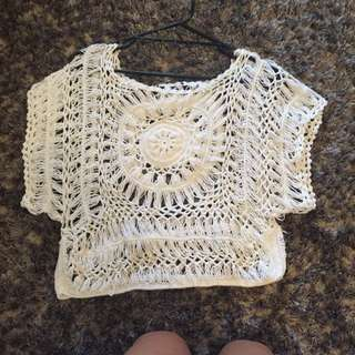 Crochet White Top