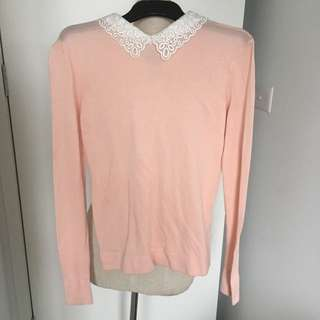 Lace Peter Pan Collar Jumper
