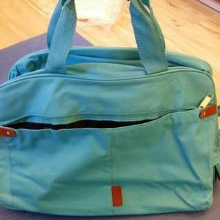 藍色手拉两用旅行袋