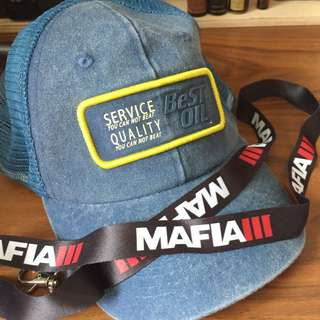 Mafia 3 Official SnapBack Hat + Lanyard *Brand New*