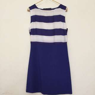 Zara Dress Ori (blue and White Stripes)