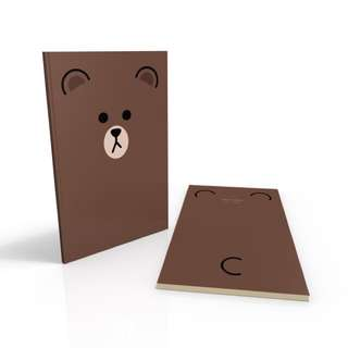 Brown - Line Characters Note Book