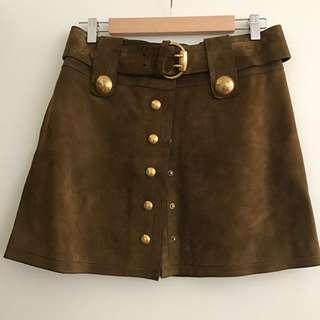 Genuine Gucci Suede Skirt