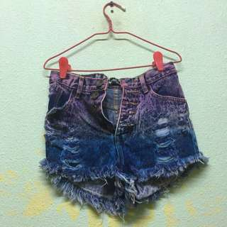 Ombre Highwaisted Shorts Sized S