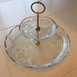 Beautiful Serving Dish 2 Tier ( For Festival Muffin Cakes )