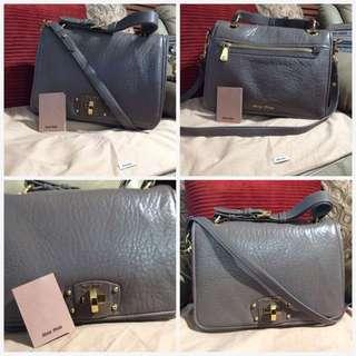 Miu Miu Clay Nappa Leather Padded Flap bag