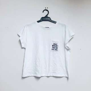 Drake Wouldn't Treat Me Like This Cropped Tee WHITE