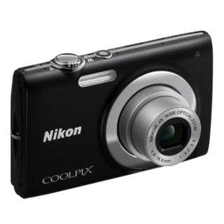 Nikon Coolpix S2500 Digital Camera - Black (12MP, 4x Optical Zoom) 2.7 inch LCD Perfect Condition