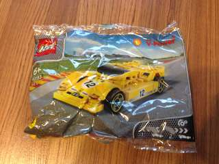 Lego Shell Yellow Car V-Power