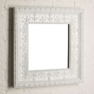 French Provincial Pippa Mirror Morgan & Finch Bed Bath n Table White Pressed metal