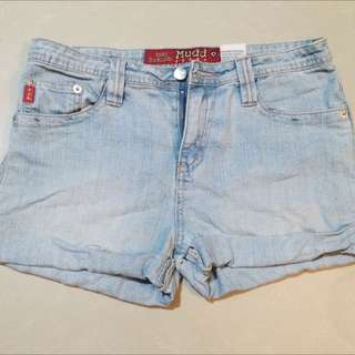 High Waist Acid Wash Shorts