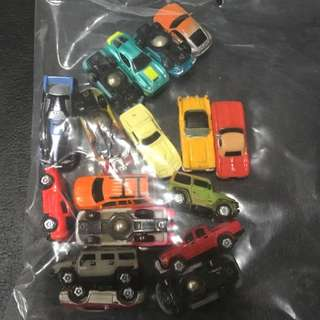 Mini cars (with ball bearing weight)