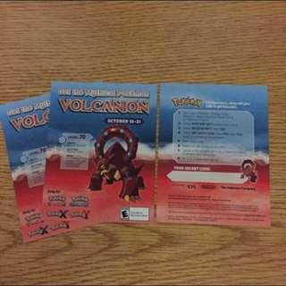 Limited Ed Volcanion Redeem Card